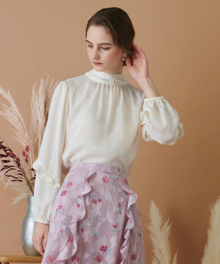 TOCCA 【TOCCA LAVENDER】2way Vintage Satin Blouse ブラウス