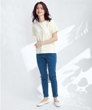 any FAM 【ベストセラー】STYLE UP SKINNY デニムパンツ サックスブルー系