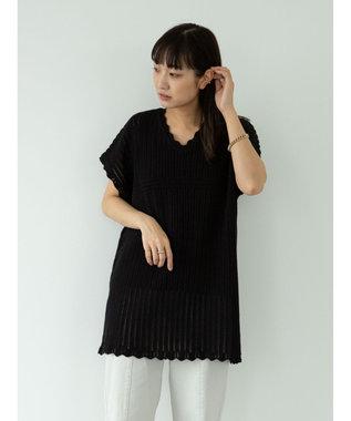 Green Parks ・Petit fleur スカシアミニットチュニック Black