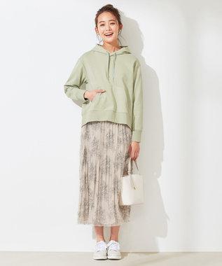 any SiS S 【洗える】ベーシック裏毛 パーカー ライトカーキ
