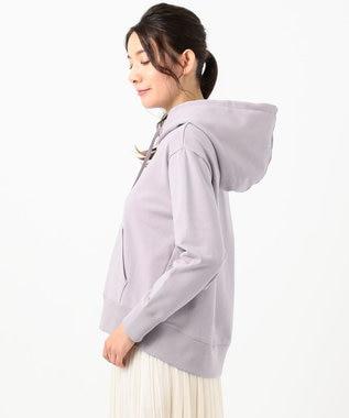any SiS S 【洗える】ベーシック裏毛 パーカー ラベンダー