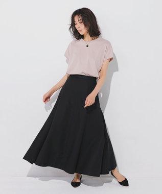 23区 S 【ONWARD MAG】フレンチ スリーブ  IT Tシャツ ヌードピンク系