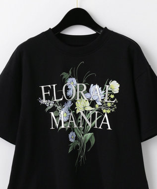 GRACE CONTINENTAL フラワープリントTシャツ ブラック