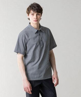 JOSEPH HOMME ハウンドトゥースジャガード ポロシャツ ライトグレー系3