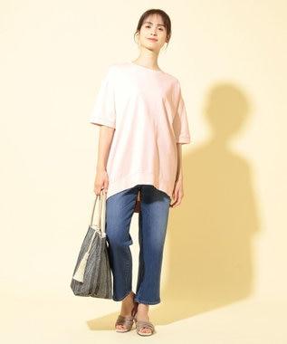 any FAM 【オーガニックコットン】オーガビッツミニ裏毛 Tシャツ ピンク系