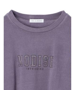 Green Parks 加工ロゴTシャツ Purple