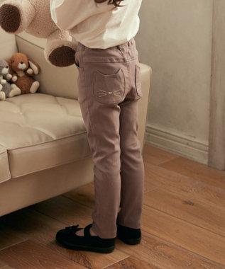 any FAM KIDS GOOD!のび~るパンツ ストレッチパンツ ブラウン系