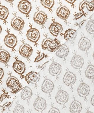JOSEPH ABBOUD モロッカンクレストプリント シャツ ダークブラウン系5