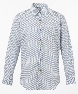 JOSEPH ABBOUD モロッカンクレストプリント シャツ ネイビー系5