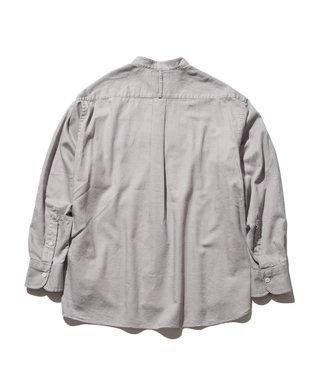 J.PRESS YORK STREET 【UNISEX】ライトツイル バンドカラーシャツ ライトグレー系