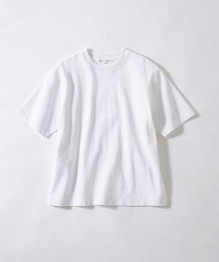23区 L 【ONWARD MAG】オーバーサイズ コットンクルーネック TEE(番号2K78) ホワイト系