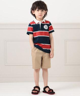 J.PRESS KIDS 【110-130cm】40/2天竺ワイドボーダー ポロシャツ ネイビー系1