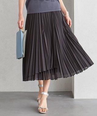 【洗える】 Airy Voile プリーツフレアスカート