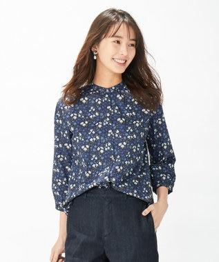 J.PRESS LADIES L 【洗える】リバティプリント ブラウス ネイビー系5