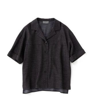 uncrave シャンブレーオックス 開襟シャツ ブラック