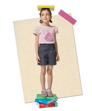 【110-140cm】刺繍ポケットショートパンツ