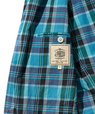 J.PRESS MEN オーセンティッパチフラ インドマドラス ジャケット ターコイズブルー系3