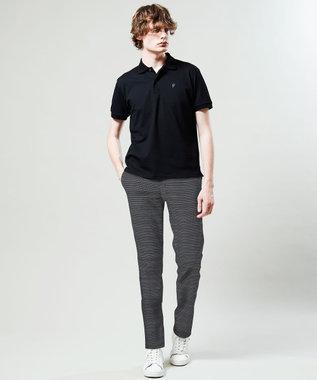 23区GOLF 【MEN】【Fondation/WEB限定】【吸汗速乾/UV/日本製】ポロシャツ ブラック系