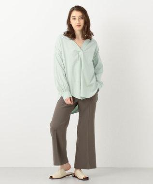 #Newans 【マガジン掲載】SOPHIE/ カフタンカラーシャツ(番号NF49) ライトグリーン系