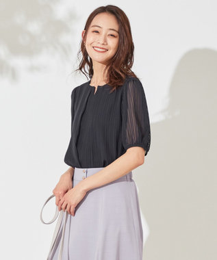 【UVケア】コンフォートモダールベーシック ストライプ カットソー