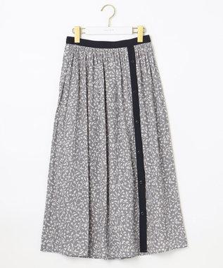 any SiS L 【2WAY】バイカラープリント スカート ネイビー系