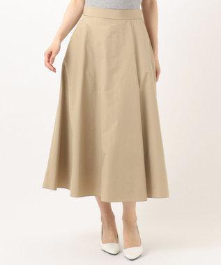 組曲 S 【洗える】タフタ フレアスカート ベージュ系