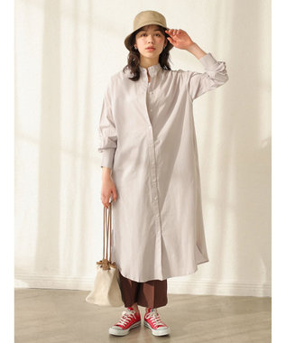 earth music&ecology シャツワンピース Lavender