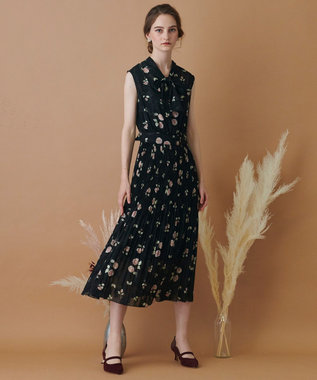 TOCCA 【TOCCA LAVENDER】Rose Cut Jacquard Print Dress ドレス