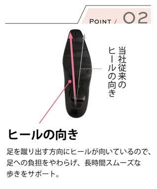success walk サクセスウォーク  ヒール高7cm  ベーシックパンプス  /ワコール WFN760 ブラック