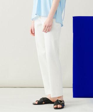JOSEPH 【 柚香 光さん着用・洗える】ライトギャバ テーパードパンツ ホワイト系