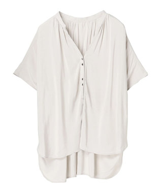 YECCA VECCA ・レーヨンローンバックシャーリングシャツ Light Gray
