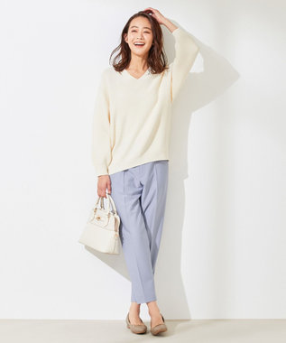 any SiS S 【美人百花5月号掲載】2WAYレディテーパード パンツ サックスブルー