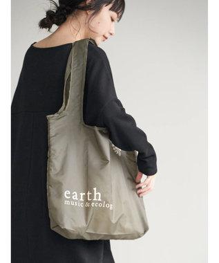 earth music&ecology コンパクトロゴエコバッグ Khaki
