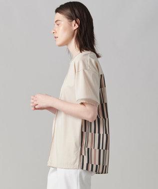 【洗える】アッセンブラージュ プリント ジャージ ラウンドネックTシャツ