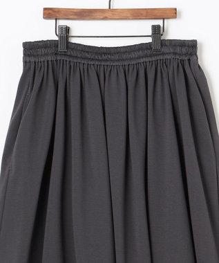 自由区 【UNFILO・Sサイズ有】 カノコジャージー スカート チャコールグレー