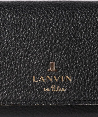 LANVIN en Bleu メラニー キーリング付きキーケース ブラック