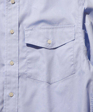 J.PRESS YORK STREET 【UNISEX】40ブロード ボタンダウンシャツ サックスブルー系