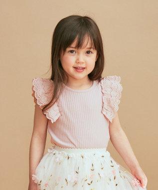 any FAM KIDS 肩レース Tシャツ ピンク