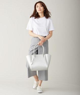 J.PRESS LADIES ミニロゴ Tシャツ ホワイト系
