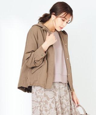 any SiS 【撥水加工】フーディショート ブルゾン