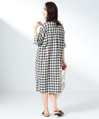 any FAM L 【定番人気】リネンブレンド ワンピース ブラック系5