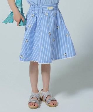【110-140cm】マーガレット 刺繍スカート