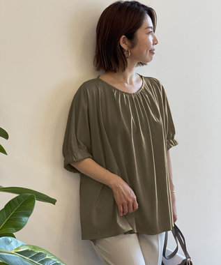 自由区 【UNFILO/撥水・汗シミ防止・接触冷感 】袖ギャザー UPTシャツ