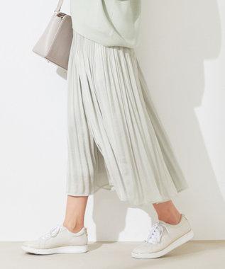 【洗える】メーテルサテン プリーツパンツ