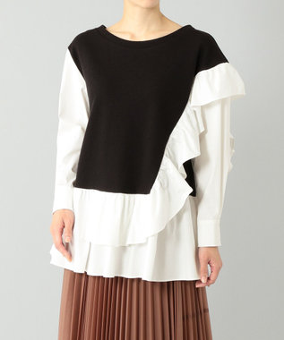 GRACE CONTINENTAL シャツカットコンビトップ