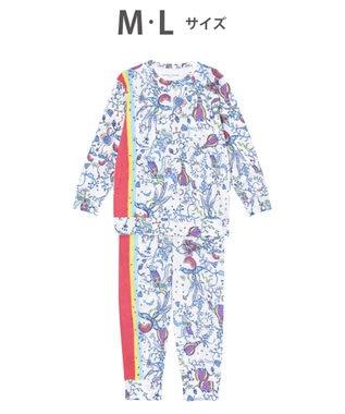 tsumori chisato SLEEP パジャマ ロング袖ロングパンツ 陽気な花柄 /ワコール UDO254 アイボリー