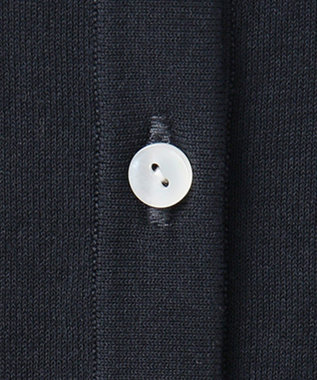 J.PRESS LADIES 【洗える】半袖クルーネック カーディガン ネイビー系