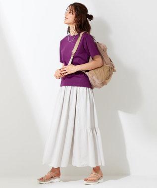 自由区 【UNFILO・Sサイズ有】 カノコジャージー スカート アイスグレー