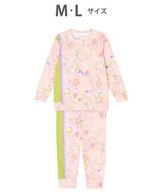 tsumori chisato SLEEP パジャマ ロング袖ロングパンツ 陽気な花柄 /ワコール UDO254 ピンク