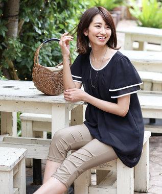 Tiaclasse 【日本製・洗える】UVカット&涼感素材の高機能クロップドパンツ グレージュ